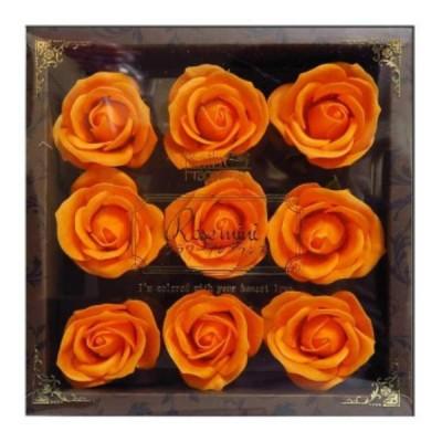 お花のカタチの入浴剤 ミニローズフレグランスL 9輪入り 771798