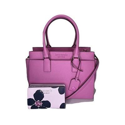 Kate Spade New York Cameron Medium Satchel bundled with matching Bifold Wallet (Grand Flora Serendipity/Bright Peony)