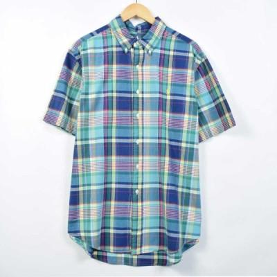 ラルフローレン ボタンダウンチェックシャツ メンズL /eaa026299