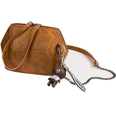 AMgrocery (キャメル)大人気 ミニバッグ ミニポーチ ミニショルダー バッグインバッグ チェーンバッグ コンパクト バッグ