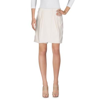 エンポリオ アルマーニ EMPORIO ARMANI ひざ丈スカート ホワイト 42 ポリエステル 100% ひざ丈スカート