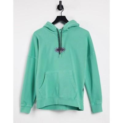 クイックシルバー Quiksilver レディース パーカー トップス Tribal Ties hoodie in green