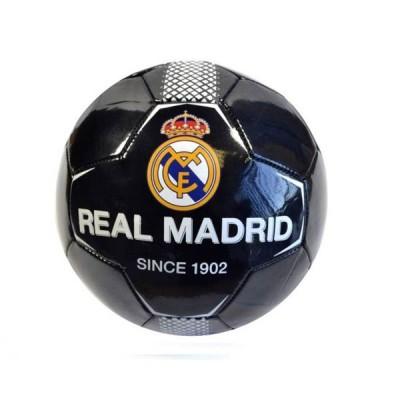 レアルマドリード チームオフィシャル Black Since1902 クレストサッカーボール 5号サイズ