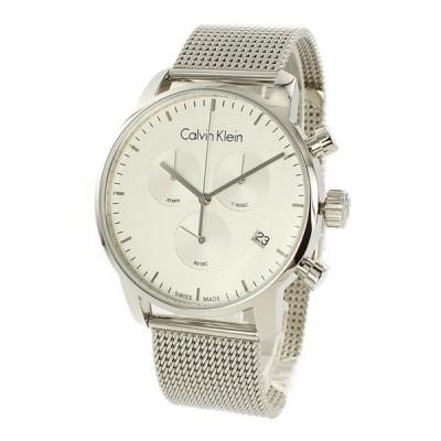 カルバンクライン メンズ CITY シティ クロノグラフ 43mm シルバー メッシュ K2G27126 腕時計