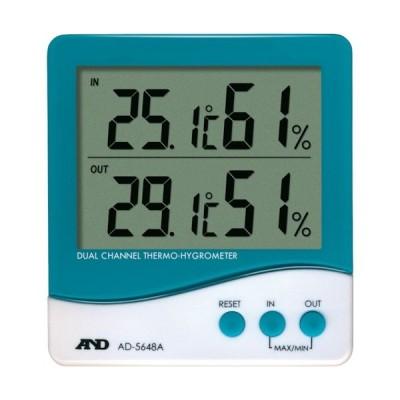 A&D(エーアンドディー) デュアルチャンネル温度・湿度計 AD5648A