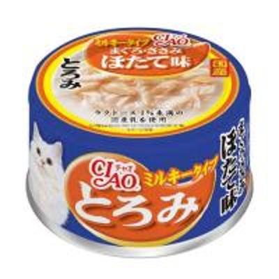 いなば CIAO(チャオ) とろみミルキータイプ まぐろ・ささみ ほたて味 80g 国産 2缶