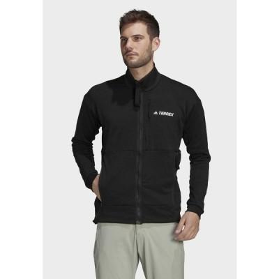 アディダス ジャケット&ブルゾン メンズ アウター TERREX TECH FLEECE HIKING JACKET - Fleece jacket - black