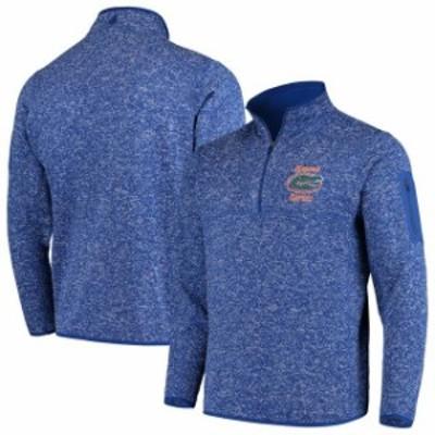 Antigua アンティグア スポーツ用品  Antigua Florida Gators Heathered Royal Fortune 1/2-Zip Pullover Sweater