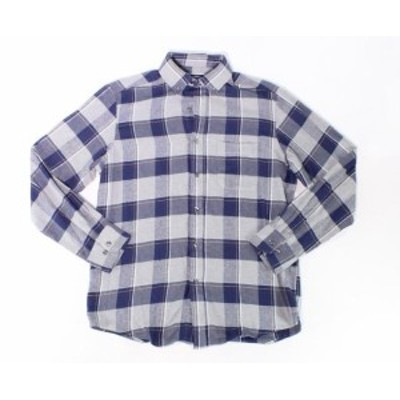 Plaid  ファッション アウター Club Room NEW Blue Mens Size Small S Plaid Print Button Down Shirt