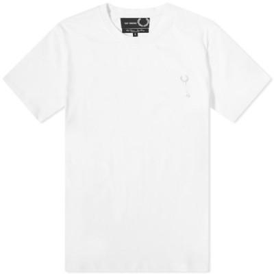 フレッドペリー Fred Perry Authentic メンズ Tシャツ ラフシモンズ トップス Fred Perry x Raf Simons Laurel Pin Detail Tee White