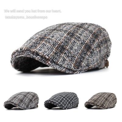 ハンチング メンズ 帽子 ゴルフ ウール オーバーチェック トレンド 人気 おしゃれ 父の日 贈り物 プレゼント メンズ