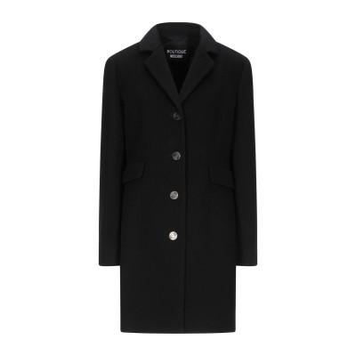 BOUTIQUE MOSCHINO コート ブラック 46 ウール 60% / レーヨン 30% / ナイロン 10% コート