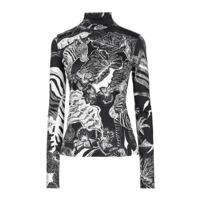 ジャストカヴァリ JUST CAVALLI T シャツ ブラック 40 レーヨン 95% / ポリウレタン 5% T シャツ