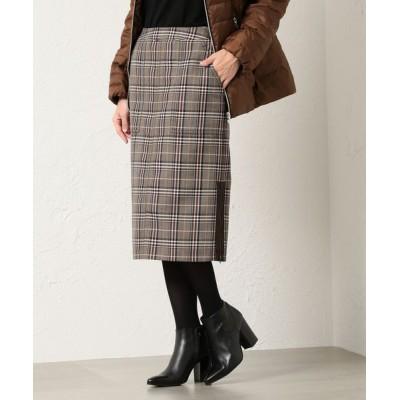 EVEX by KRIZIA/エヴェックス バイ クリツィア *eclat掲載*グレンチェックタイトスカート キャメル1 40
