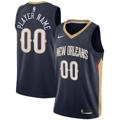 ナイキ メンズ Tシャツ トップス New Orleans Pelicans Nike Swingman Custom Jersey Navy