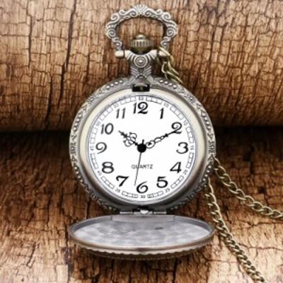 懐中時計 トルコ国旗 月 星 アンティーク調 レトロ ブロンズ ゴールド チェーン / 時計 インテリア Clock クロック ウォッチ オシャレ