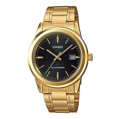 腕時計 カシオ Casio MTP-VS01G-1A メンズ スタンダード ソーラー ゴールド トーン ステンレス スチール デート 腕時計