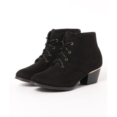 Mafmof / Realta(レアルタ)  ゴールドプレートヒールレースアップ ブーツ WOMEN シューズ > ブーツ