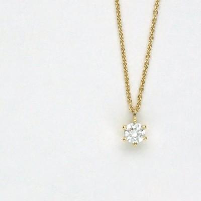 K18 イエローゴールド ダイヤモンド プチネックレス 45cm 日本製
