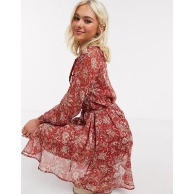 フレンチコネクション レディース ワンピース トップス French Connection paisley printed mini dress