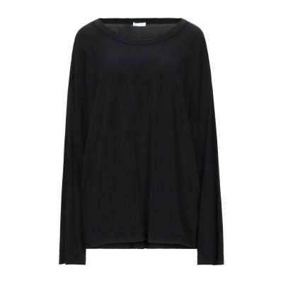 パロッシュ P.A.R.O.S.H. T シャツ ブラック S レーヨン 95% / ポリウレタン 5% T シャツ