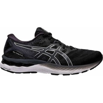 アシックス メンズ スニーカー シューズ Men's ASICS GEL-Nimbus 23 Running Sneaker Black/White
