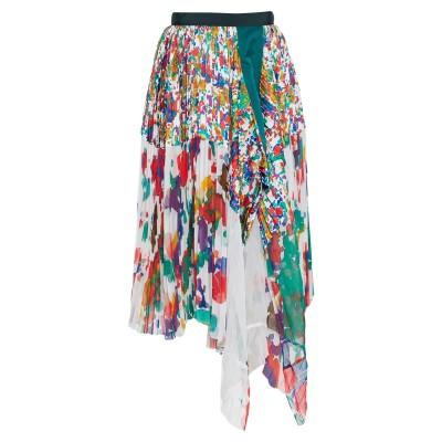 サカイ SACAI 7分丈スカート ホワイト 2 ポリエステル 100% 7分丈スカート