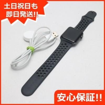 美品 Apple Watch series3 Nike+ 42mm GPSモデル スペースグレイ  スマホ 安心保証 即日発送  スマホ Apple 中古本体 白ロム 中古