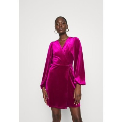 クローゼット レディース ドレス WRAP OVER MINI DRESS - Cocktail dress / Party dress - pink