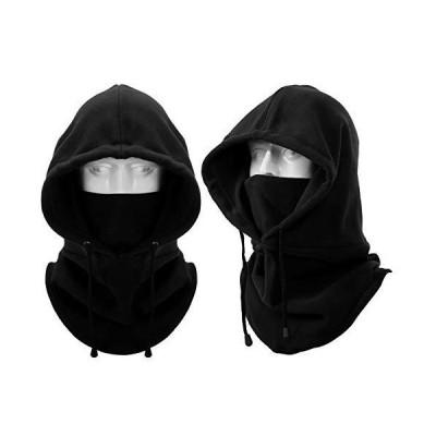 フードウォーマー - 3Way ネックウォーマー 帽子 ネックカバー ヘッドウェア バラクラバ 目出し帽 フリース 防?