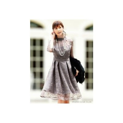クチュールレースリボンワンピースドレス(7号?13号) (アンティークローズ(T))