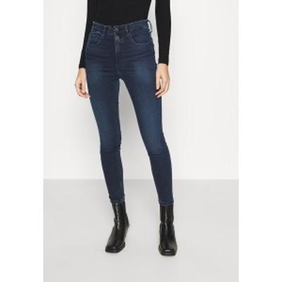 カルバンクライン レディース デニムパンツ ボトムス HIGH RISE SUPER SKINNY ANKLE - Jeans Skinny Fit - denim dark denim dark
