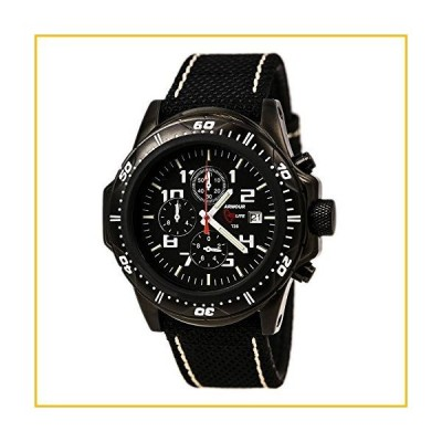 【☆送料無料☆新品・未使用品☆】Armourlite Professional Series Black Chronograph Watch Black White Kevla Band【並行輸入