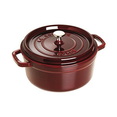 Staub 5 1/2-Qt. Round Dutch Oven Color: Grenadine[平行輸入品]