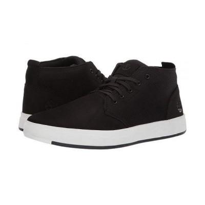 Timberland ティンバーランド メンズ 男性用 シューズ 靴 スニーカー 運動靴 Davis Square Leather and Fabric Chukka - Black Nubuck
