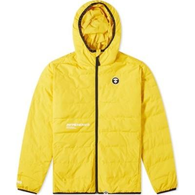 ベイシング エイプ AAPE by A Bathing Ape メンズ ダウン・中綿ジャケット アウター aape logo lightweight down jacket Yellow