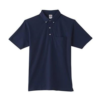 [プリントスター] 半袖 4.9oz TC 鹿の子 ボタンダウン ポロシャツ (ポケット付) 00198-BDQ ネイビー SS (日本サイズSS相