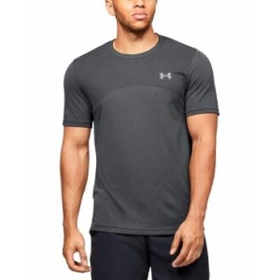 アンダーアーマー メンズ Tシャツ トップス Men's Seamless Short Sleeve T-shirt Charcoal