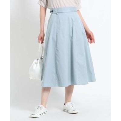 スカート 【XS~Lサイズあり・洗える】ツイルフレアスカート