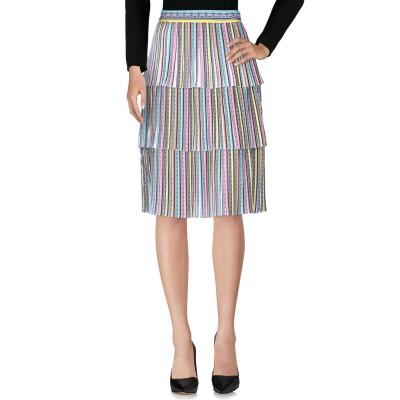 メアリー・カトランズ MARY KATRANTZOU ひざ丈スカート イエロー 8 ポリエステル 100% / シルク ひざ丈スカート