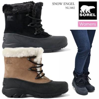 ソレル SOREL スノーブーツ レディース ウィメンズ スノーエンジェル SNOW ANGEL ブラック ルートビア 23-26cm NL3482