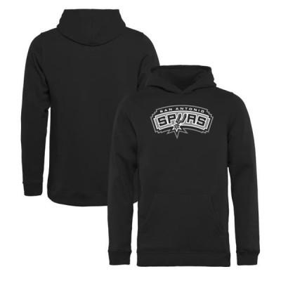 キッズ スポーツリーグ バスケットボール San Antonio Spurs Fanatics Branded Youth Team Primary Logo Pullover Hoodie - Black