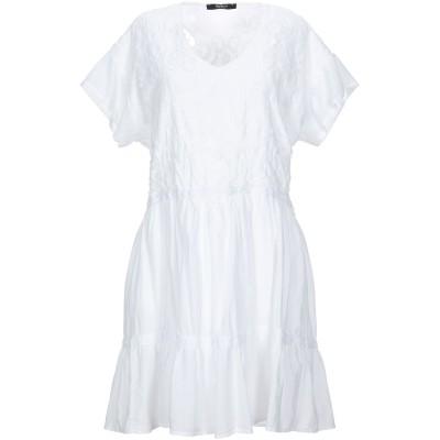 SISTE' S ミニワンピース&ドレス ホワイト XS コットン 100% ミニワンピース&ドレス