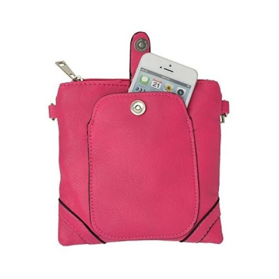 Women's Mini Square Crossbody Handbag with Cell Phone Pouch By Marshal並行輸入品