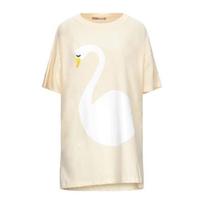 ROS A POIS Tシャツ  レディースファッション  トップス  Tシャツ、カットソー  半袖 ライトイエロー