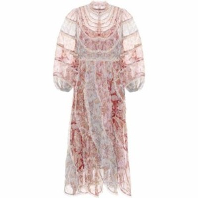 ジマーマン Zimmermann レディース ワンピース ミドル丈 ワンピース・ドレス Beetle Floral Georgette Midi Dress Spliced Jacobean