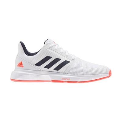 アディダス(adidas) メンズ テニスシューズ コートジャム バウンス M フットウェアホワイト/レジェンドインク/ソーラーレッド FBC51 FU8102 靴 試合 部活 大会