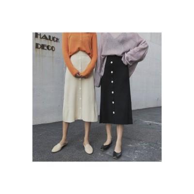 【送料無料】黒の半身裙スカート ウインター と セーターの女性 年 韓国風 シングル | 364331_A64411-1609488