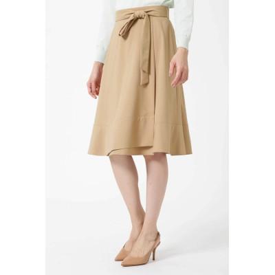NATURAL BEAUTY ナチュラル ビューティー 裾フレアラップスカート
