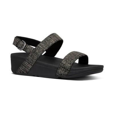 フィットフロップ サンダル シューズ レディース Women's Lottie Glitter Back-Strap Wedge Sandal All Black